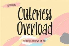 Web Font CutenessOverload - Cutey Handwritten Font Product Image 1