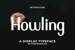 Web Font Howling Product Image 1