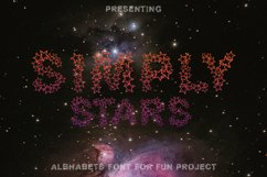 Simply Stars - Alphabets Star Font For Crafters Product Image 1