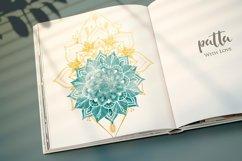 Watercolor & Gold Hand Drawn Mandala Product Image 3