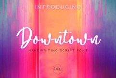 Downtown - Handwriting Script Font Product Image 1