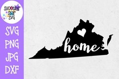 Virginia Home State with Heart - 50 States SVG Product Image 1