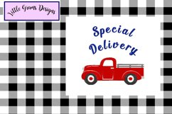 Red Vintage Truck Toilet Paper Embroidery Designs 3 designs Product Image 2