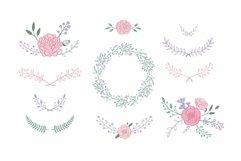 Floral botanical wedding illustrations set Product Image 2