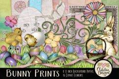 Easter Digital Scrapbook Kit - Bunny Prints Spring Clipart Product Image 1