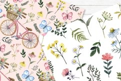 Spring Floral Digital Papers Watercolor Cute Pattern Product Image 2