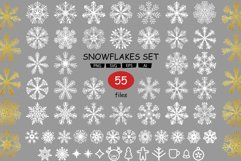 Set with snowflakes Product Image 1