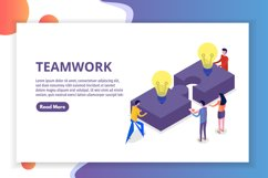 Teamwork concept isometric, people working together Product Image 1