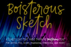 Boisterous Sketch - a fun single-line font with variety! Product Image 1