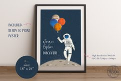 Space Adventure Clipart Bundle - Outer Space Fun Scenes Product Image 6