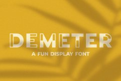 Demeter // A Fun Display Font Product Image 1