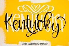 Kentucky - A Script Print & Doodle Font Trio Product Image 1