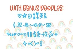 Web Font Double Rainbow - A Font Duo with Doodle Extras Product Image 4