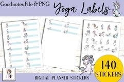 Yoga Labels Digital Printable Labels Stickers Goodnotes Product Image 4
