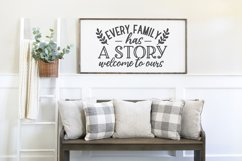 Family Quotes Farmhouse Family Sign svg bundle dxf png eps Product Image 6