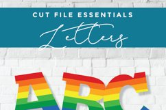 Rainbow letters svg, rainbow alphabet svg, gay pride letters Product Image 3