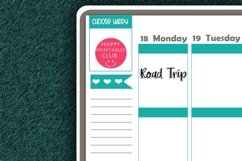 Road Trip Script Words Planner Stickers- Road Trip Stickers Product Image 2