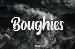 Boughies Display Typeface Product Image 1