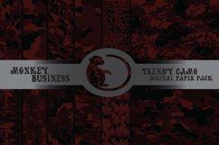 Dark camouflage digital paper pack, Instant download, JPG Product Image 1