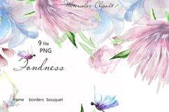 Blue Wedding floral frame border clipart Product Image 1