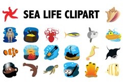Sea Life Clipart Product Image 1
