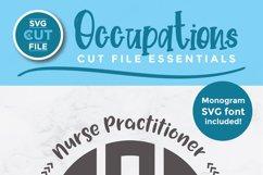 Nurse practitioner monogram svg - an NP svg for crafters Product Image 2