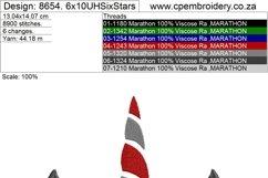 Unicorn Head Six Stars Applique Embroidery Design Product Image 6