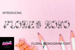 Flores mono - beautiful monogram floral font Product Image 1
