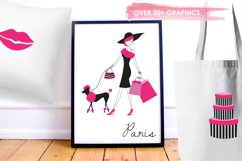 Paris Je T'Aime graphics and illustrations Product Image 5