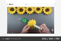 Sunflower SVG, Flower SVG, Paper Flower SVG Product Image 2