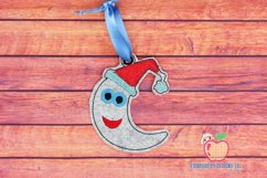Christmas Moon Ornament Embroidery Product Image 1