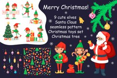Christmas cartoon set with elves and Santa Clause Product Image 1