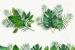 Watercolor tropical leaves ,clip art. Drawing Tropical Product Image 2
