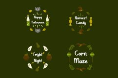 Scary Candy | Cute halloween font with illustration Product Image 2