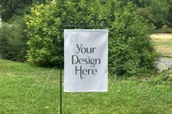 Yard Flag Mockup for Spring, A White Garden Flag Mock-Up Product Image 2