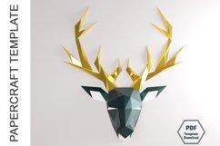 PDF Template Of Deer Papercraft /3D Papercraft Product Image 4