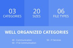 140 IT & Communication Filled Line Icons Product Image 2