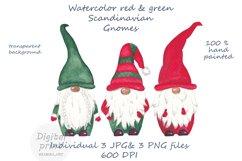 Watercolor scandinavian gnomes png Product Image 1