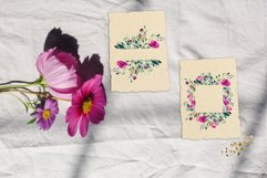 Watercolor floral frames, floral clipart, romantic borders Product Image 6