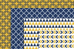 Navy and Yellow Geometric Digital Papers Product Image 2