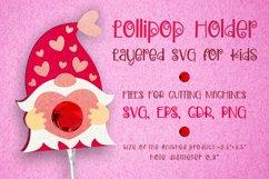 Gnome Lollipop Holder - Valentines Template SVG Product Image 1
