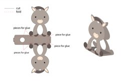 Cute Koala Chocolate Egg Holder Design, Print and Cut Product Image 3