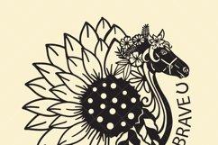 Horse mandala with sunflower, Bundles, SVG files, Product Image 2
