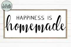 Happiness Is Homemade SVG, Sublimation PNG & Printable Product Image 1