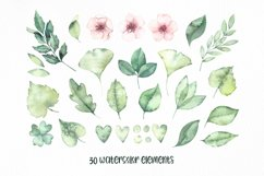 Spring leaves. Watercolor set Product Image 4
