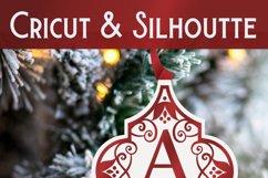 Arabesque Split Alphabet Christmas Ornament SVG Bundle Product Image 4