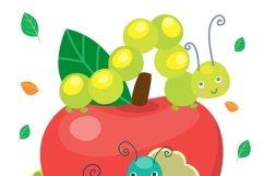 Cartoon caterpillar vector cute set Product Image 3