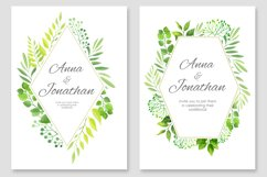 Floral Wedding invitations vector set Product Image 6