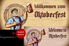 Vector Flyer Invite Copyspace Beer Glass Oktoberfest Man Product Image 1