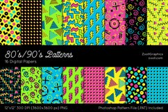 80's/90's Patterns Digital Papers Product Image 1